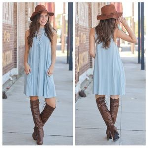 💚LAST ONE💚 Sky Blue Boho Chic Dress